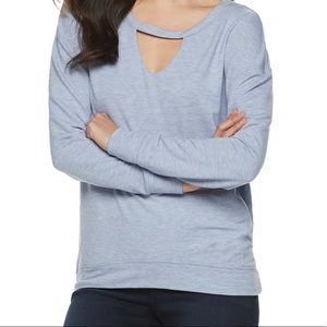 Juicy Couture women's M cut out sweatshirt NWT
